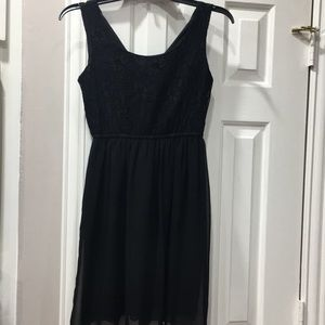 Juniors black dress